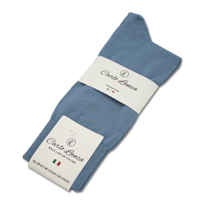 Socken Lanza Graublau - Baumwollsocken graublau