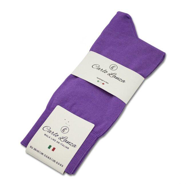 Socken Lanza Lila - Baumwollsocken lila