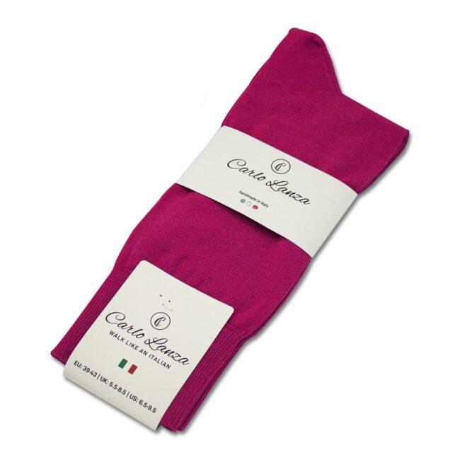 Socken Lanza Magenta | Baumwollsocken magenta