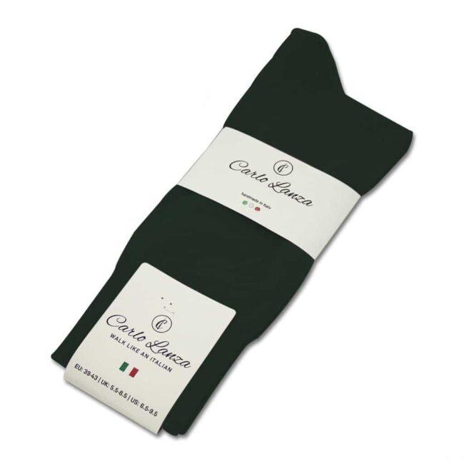 Socken Lanza Waldgruen   Baumwollsocken waldgrün