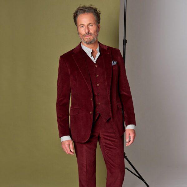 Weinroter Cord Anzug