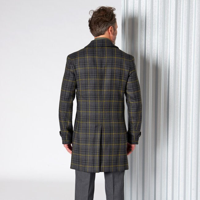 Raincoat 12 DashingTweed Back - Doctor Sherlock - Raincoat mit Überkaro