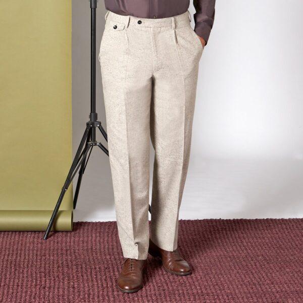 Beige-graue Tweed Hose