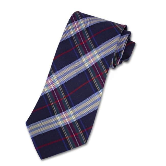 Krawatte tartan blau