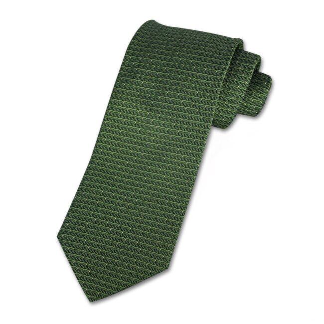 Krawatte wellen gruen - Krawatte grüne Wellen