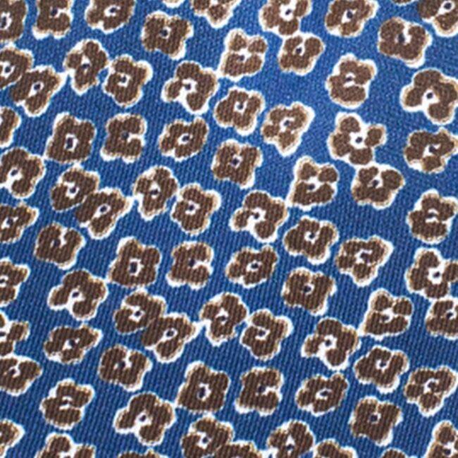 Veilchen braun auf blau