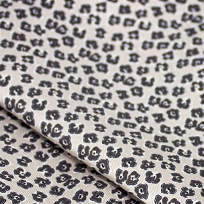 leopard | Einstecktuch mit beigem Veilchenprint