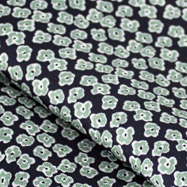 leopard gruen | Schleife mit grünem Veilchenprint