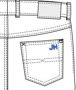 Monogramm Gesaesstasche | Maßjeans professionell kaufen