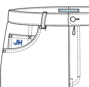 Monogramm Uhrentasche | Maßjeans professionell kaufen